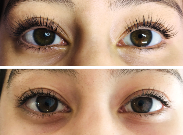Before/After Eyelash Lift (by stylist Jillian)